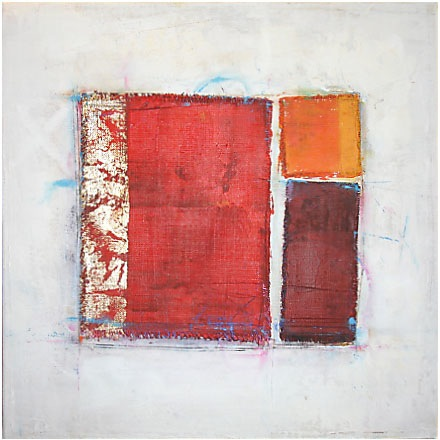 red with gold 40x40